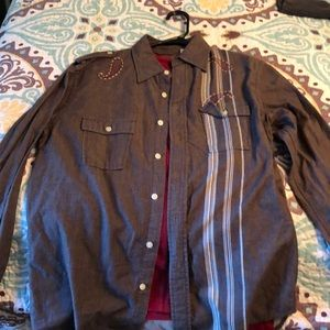 2 men's express long sleeve shirts like new